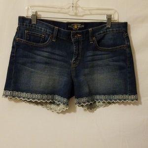 "Lucky Brand Abbey Shorts Sz 8/29 I 4"" W 17"" R9"""